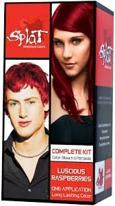 Splat Rebellious Colors Hair Coloring Kit - Luscious Raspberry (Set of 2)