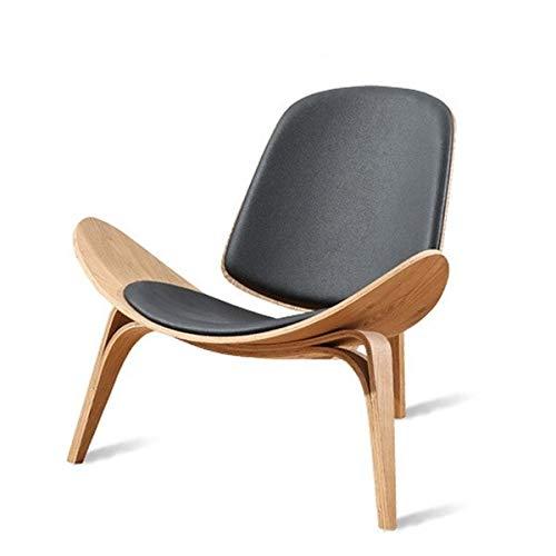 GoYisi WKJ-09 Muebles Modernos Triángulo Shell Chair Aircraft Chair Ocio Sofá Silla (Color Nogal) (Color : Walnut Color)
