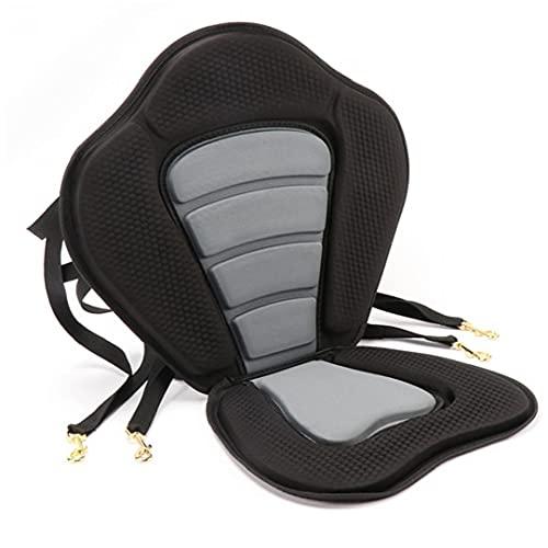 Liadance Seat Pad Adjustable Ocean Rowing Cushion Detachable Non-slip Padded Canoe Seat Black