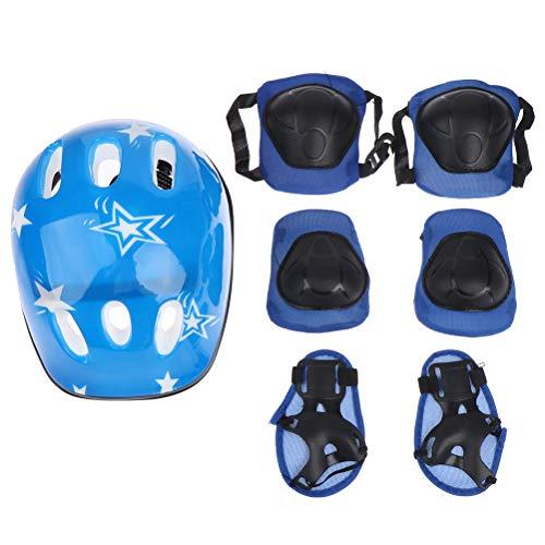 FADACAI 7 en 1 niños espesar casco de bicicleta protección rodilla niños niñas Ciclismo montar casco