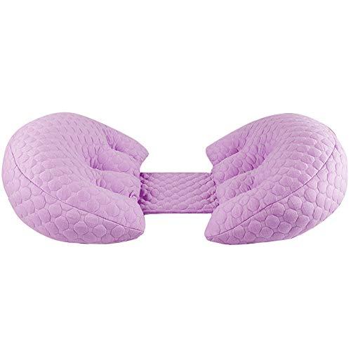 SimidunEUR U-Form Side Sleeper Schwangerschaftskissen, verstellbares Bett Keilstütze Taille Side Sleeping Pillow, Bump und Rückenpolster,Lila