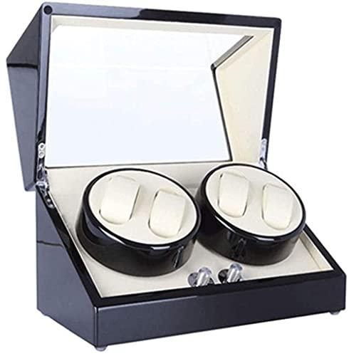 YUNLILI Reloj Cuadro de Pantalla Shaker Mecanical Watch Gire Gire Watch Winder Rocker Watch Caja de enrollamiento Reloj automático Box-Red2 (Color : Black)