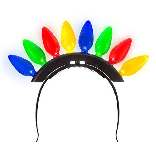 Windy City Novelties Christmas Light Bulb Headband for Ugly Christmas Xmas Party Kids & Adults