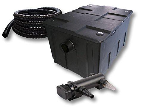 SunSun 1-Kammer Filter Set für 60000l Teich mit 18W UVC 3er Teichklärer und 5m Schlauch