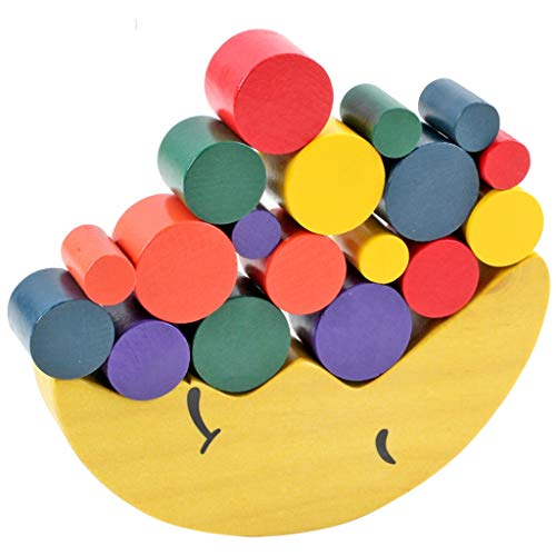 Best Deals! YONGMEI Early Childhood Education Educational Toys, Wooden Moon Boat Building Blocks, Kindergarten Stacking Stacking Balance Game