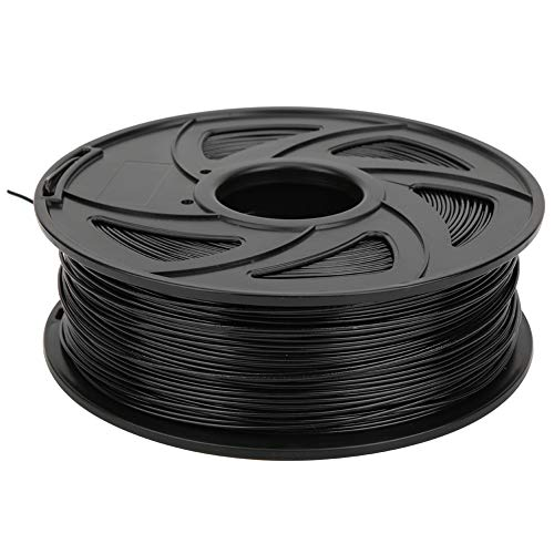 Printer Filament,Black 1.75mm 1KG PLA Printer Long Filament Printing Consumables Material for 3D Printer