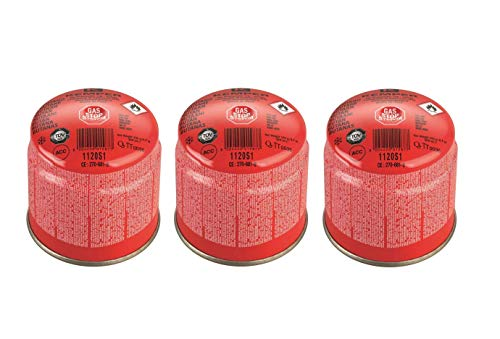 Kemper - Cartucho de cartuchos de gas de 190 g, art. 1120S1 - Con sistema de seguridad de membrana - Oferta para 3 unidades