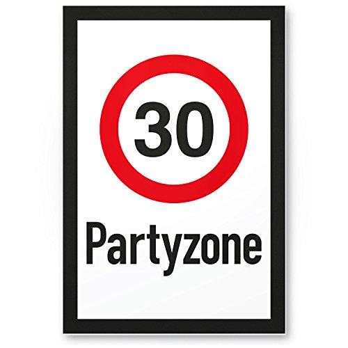 Bedankt! 30 partyzones, plastic bord, cadeau 30e verjaardag, cadeau-idee verjaardagscadeau driemisten, verjaardagsdecoratie, feestaccessoires, verjaardagskaart