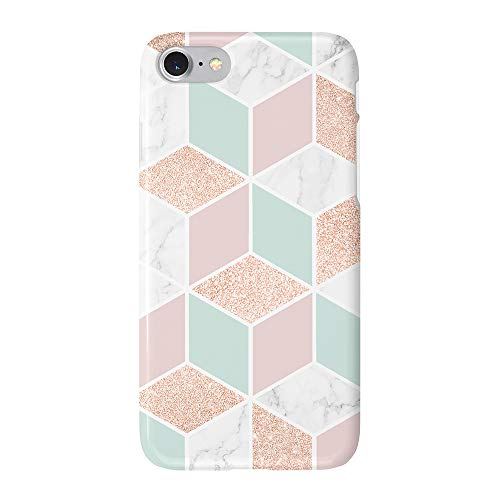 uCOLOR Case Compatible with iPhone 6S 6 iPhone 8/7 Cute Protective Case Rose Gold Sparkle Mint Green White Marble Slim Soft TPU Silicon Shockproof Cover Compatible iPhone 6s/6/7/8(4.7')