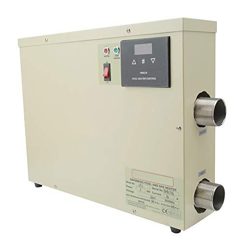 Termostato para calentador de agua, calentador de bañera inteligente a prueba de agua de 5.5Kw con controlador táctil, equipo de calentador de spa de alta eficiencia de calefacción para piscinas(I)