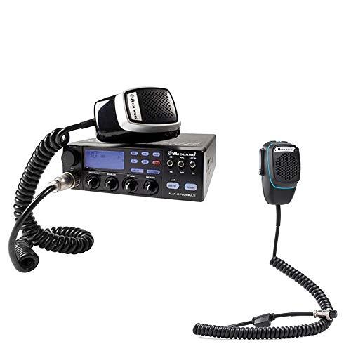 CBTalk Radio CB Kit Alan 48 Multi Plus B + Smart Dual Mike von Midland mit 6-Pin-Bluetooth