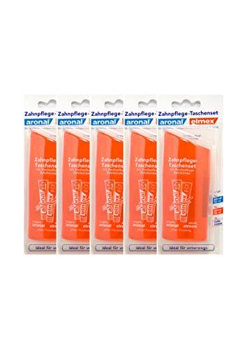 5x Aronal & Elmex Zahnpflege Taschenset - Reiseset, ideal für unterwegs