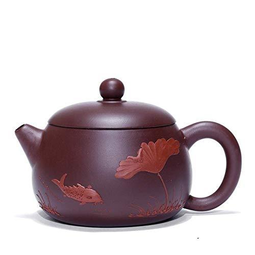 ADSE Tea Maker Pot Fish Fun Pomelo Teapot Tea Cup Purple Teapot Vintage Unique Oriental Design (Color : Purple Zhu Mu, Size : One Size)