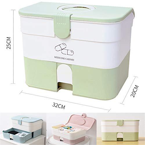 Medizin Box, Medikamenten Organizer Zuhause Erste Hilfe Box Hohe Kapazität Hausapotheke Box für Zuhause/Firma Arzneimittelbox (Color : F)