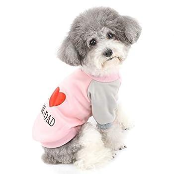 ZUNEA Manteaux d'hiver pour Petit Chien Chaud Pull-Overs pour Chat en Coton Vêtements pour Chiot Chihuahua Yorkie Rose XXL