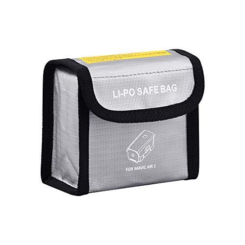 DJFEI Lipo Akku Tasche Batterie Schutz Tasche für DJI Mavic Air 2 Drone, 3 Stück Tragbare Drohne LiPo Explosionsgeschützte Sichere Tasche für DJI Mavic Air 2 (Weiß)