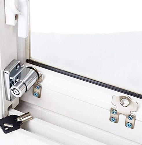 Schuifvensterslot, 1 stuk, kinderbeveiliging, beveiligingsslot, diefstal, deurslot, push/pull raam, limet sloten