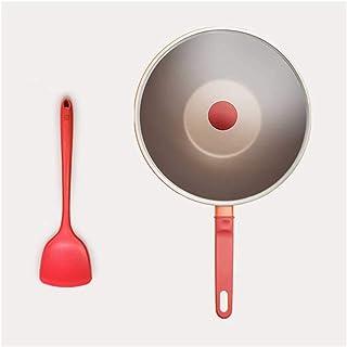 WJJ Sauteuse Induction Sauteuse Wok, Wok Antiadhésif Ménages Antiadhésif Wok Pan Pan Batterie De Cuisine Au Gaz Cuisinière...