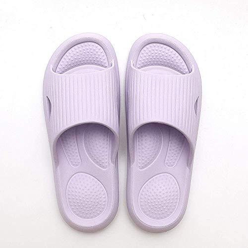 Zapatillas antideslizantes para la playa y la casa, para el baño, antideslizantes, para masaje de pies, para parejas, color morado, 42-43, sandalias para la ducha, zapatos kshu