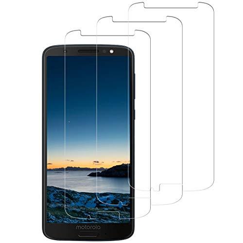 SNUNGPHIR 3 Pezzi Vetro Temperato per Motorola Moto G6 Plus Pellicola Protettiva Motorola Moto G6 Plus Trasparente Protezione Schermo [Anti Graffio] [Anti Bolle/Impronta] [Facile da Installazione]