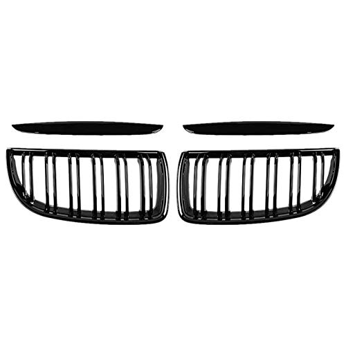 Rejillas Frontales De Radiador Parrilla frontal de la rejilla de riñón de la parrilla doble para BMW E90