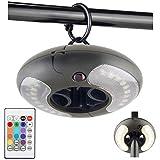 HONWELL Wireless LED Sonnenschirm Beleuchtung, Farbwechselnde LED Timer Fernbedienungs...