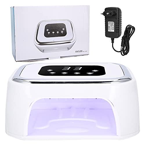 Lámpara de secado de uñas, 4 modos de tiempo, lámpara LED profesional para secador de uñas, laca, esmalte en gel con Bluetooth, 4 modos de tiempo para barniz, gel y barniz semipermanentes(EU)