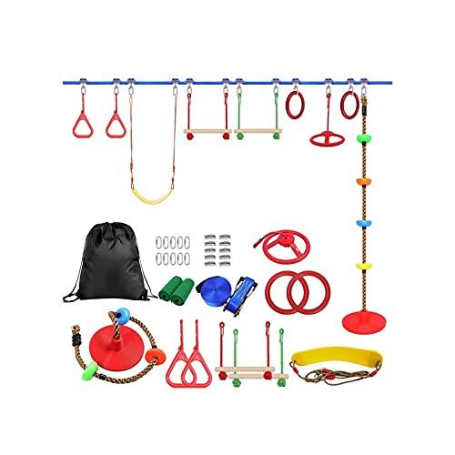 Useful Niños al Aire Libre Escalada Kit de obstáculos Línea para niños Colgando obstáculos Curso Playset Swing Traning Accesorios Convenient ( Color : B )