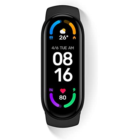 Xiaomi Mi Smart Band 6 - 1.56'' AMOLED Touch Screen, SPO2, Sleep Breathing Tracking, 5ATM Water Resistant, 14 Days Battery Life, 30 Sports Mode, Fitness, Steps, Sleep, Heart Rate Monitor [Official UK]