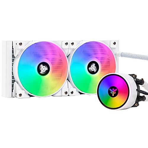 Itek EVOLIQ 240 ARGB (White Ver.) - Dissipatore a liquido per CPU da 240mm all in one (AIO), compatibilità universale,...