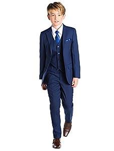 Paisley of London, Anzug für Jungen, Kombination für Schulball, Dreiteiler, 12-18Monate–13Jahre, Blau Gr. 12-18 Monate, blau