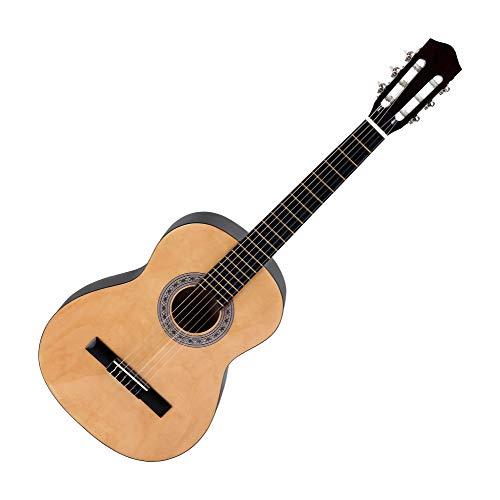 Calida Benita 4/4 Konzertgitarre Natur (Akustikgitarre mit 18 Bünden, geeignet für Kinder im Alter ab 12 Jahren, Bundmarkierung, Nylonsaiten, 1010mm Gesamtlänge)
