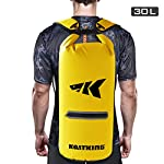 Kastking cyclone seal dry bag - 100% waterproof bag with phone case front zippered pocket, perfect for beach, fishing, kayaking, boating, hiking, camping, biking, skiing 9 durable construction dry bag - designed for active water sports and dusty environments the kastking cyclone seal dry bag is rugged, flexible, and abrasion resistant. A super strong and abrasion resistant 500d pvc construction with precision ultrasonic welded seams provide a superior seal to prevent water intrusion. Provides a complete waterproof bag system for any environment. Perfect for fishing, camping, kayaking, hiking, beach, boating waterproof protection – the kastking cyclone dry bag seal system provides an extra layer of pvc to ensure a best-in-class waterproof seal on a dry storage bag. Gives you total piece of mind to protect your valuable items from getting wet. Also has special splash-proof outer zipper pocket. Heavy duty - tough, resilient spider buckle will not fatigue and break. Heavy duty self-locking clips will hold oversize loads. Cyclone waterproof bag buckles and clips are made of heavy-duty nylon and will not rust in any wet conditions. Reinforced strap attachment points.
