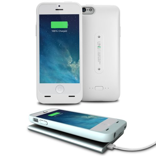 uNu Aero iPhone 5S Wireless Charging Battery Case - White