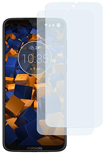 mumbi Schutzfolie kompatibel mit Motorola Moto G7 Plus Folie klar, Bildschirmschutzfolie (2X)