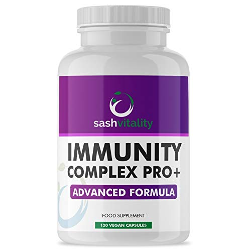 Immune Booster – Immune System Support Supplement - 120 Capsules - Vitamin C and Zinc, Elderberry, Iron, B12, D3, Turmeric, Selenium, Garlic, Probiotics & more – Vegan Multivitamin Complex Men & Women