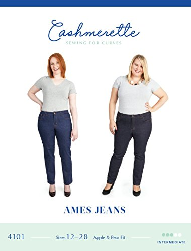 Ames Jeans Sewing Pattern by Cashmerette Patterns: Sizes 12 - 28