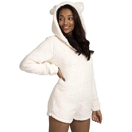 Dannii Matthews - Mono de peluche para mujer, de forro polar, tamaño pequeño a XL
