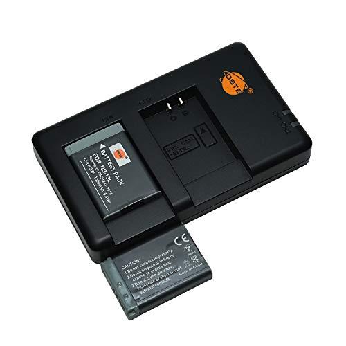 NB-13L - Batería recargable y cargador dual compatible con Canon PowerShot SX620, SX720, SX730, SX740, G1 X Mark III, G5 X, G5 X Mark II, G7 X Mark III, G9 X, G9 X, Mark II, etc.