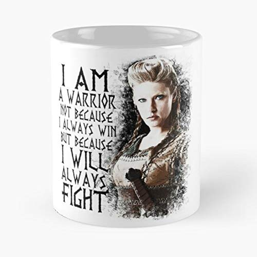 92Wear Lagertha Vikings TV Series Warrior Viking History Channel Drama Fight Quote - Best 11 oz Taza De Café - Taza De Motivos De Café