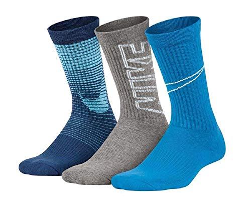 Nike Boys Big Swoosh Crew Socks 3 Pair, 13C-3Y