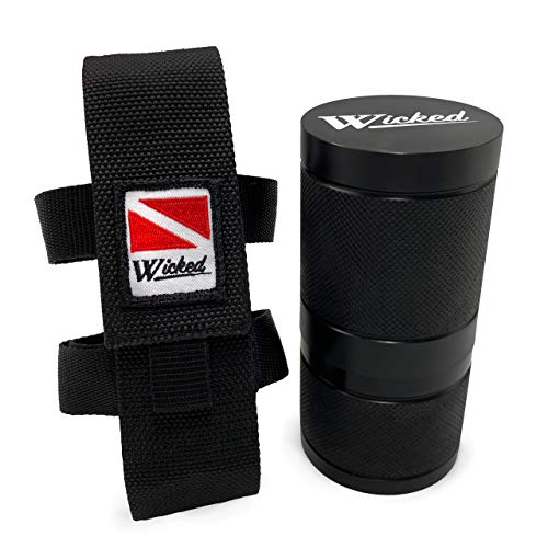 Wicked The PLB Dive Safety Canister for Use in Scuba Diving, Boating; Certified and Depth Rated to Maintain Underwater Water Proof Water Tight Integrity Container