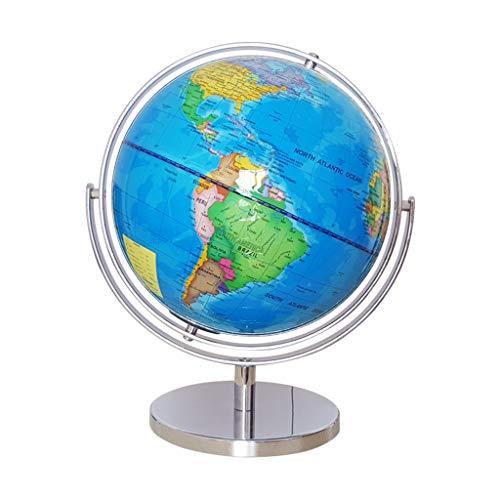 9 pulgadas con el globo del mundo iluminadas Constelaciones de Luz Hasta inteligentes globos de la tierra del mundo con soporte de globo de la tierra for la Educación Oficina de escritorio del hogar D