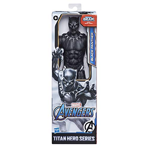 Marvel Avengers Titan Hero Serie Black Panther, 30 cm große Actionfigur mit Titan Hero Power FX Port