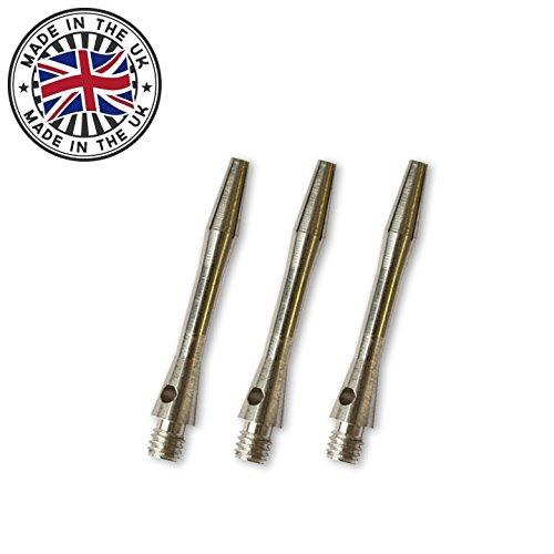 12 British Darts Dart Aluminium Schäfte 35 mm Mittellang,Silber TA1316 1 Satz British Darts Dartflights GRATIS
