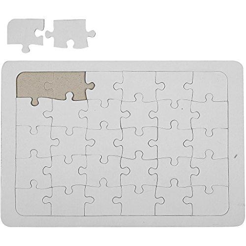 Jigsaw - Puzle, tamaño A4, 21 x 30 cm, color blanco, 1 unidad