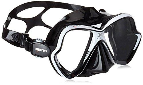 Mares Erwachsene X-Vision Mask 14 Taucherbrille, Weiss/Schwarz, BX