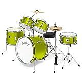 Ashthorpe 5-Piece Complete Kid's Junior Drum Set with Genuine Brass Cymbals - Children's Advanced Beginner Kit with 16' Bass, Adjustable...