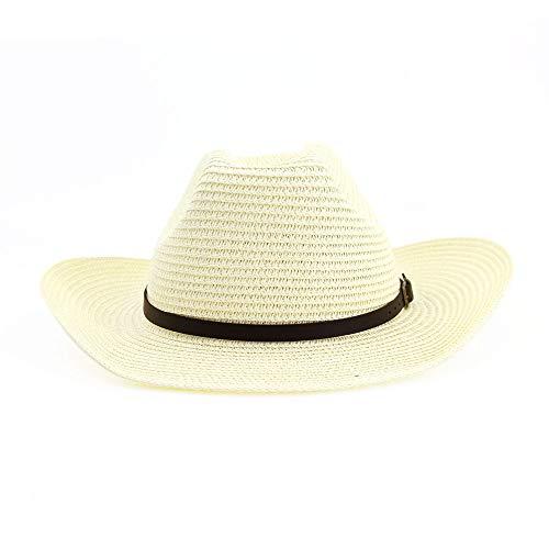 Accesorios de vestir Sombrero de paja Gorro de vaquero occidental para mujeres...