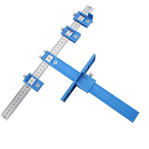 ASNOMY Locher Locator Bohrführung, Bohrhilfe Bohrführungshülse, Schrank Hardware Jig Schablone, Holzbohrdübel Lineal Messwerkzeug für die Montage von Griffen